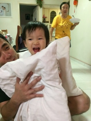 My brother and Little E