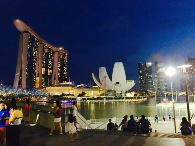 Marina Bay by night.