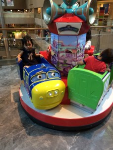 On the Chuggington train