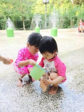 Water play at SBG