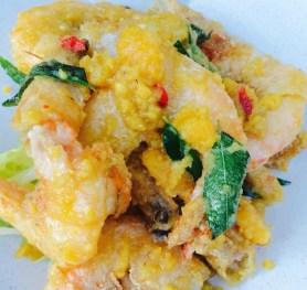 Salted Egg Yolk Prawns