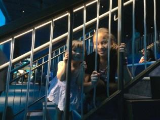 Lianna and Little E in the SEA Aquarium
