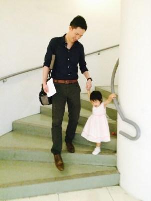 Holding the princess' hand
