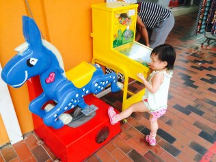 Little E with kiddy rides