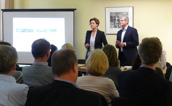 Dr. Carolin Baedeker (Gesamtprojektleitung), Wuppertal Institut, und Prof. Dr. Viktor Grinewitschus, EBZ Business School