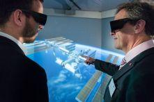 Der virtuelle Ausflug ins Weltall in der Panoramaprojektion faszinierte die Besucher auch am Dortmunder Tag der Simulation. Foto: RIF - Alex Muchnik