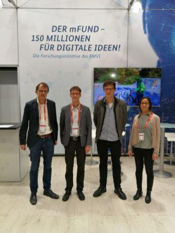 v.l. n. r.: Dr. Fabian Dosch (BBSR); Dr. Markus Neteler, (mundialis GmbH & Co KG), Prof. Dr. Stefan Fina (ILS); Dr. Hajar Benelcadi, mundialis GmbH & Co KG