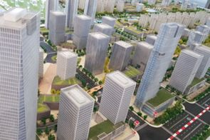 """""""Nanjing Jiangbei New Area"""": Hier sitzt das """"Jiangsu Delta Water Institute"""", mit dem das IKT ein Kooperationsabkommen für den Aufbau des """"Sino-German Urban Water Lab 4.0"""" unterzeichnet hat. (Quelle: IKT)"""