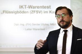 Dipl.-Ing. (FH) Serdar Ulutaş, MBA, Leiter IKT-Warentest, stellt die Ergebnisse im Detail vor.