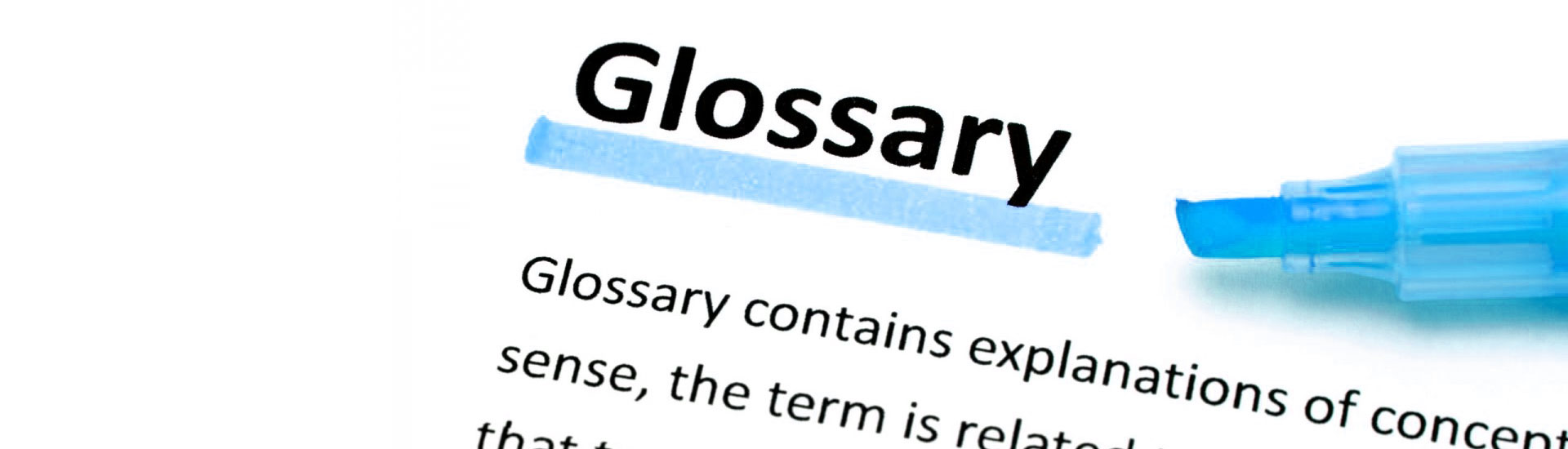 hight resolution of placement industry glossary of terms used