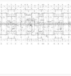 apartment building floor plan autocad  [ 3058 x 2119 Pixel ]