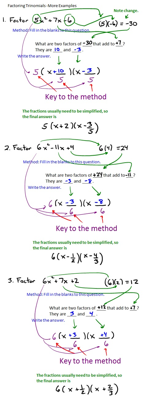 The Best Way To Factor Trinomials  Math Thoughts
