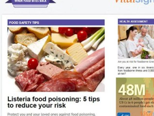 Food Safety, for CDC Vitalsigns