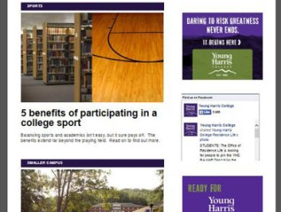 Higher Education News, for Young Harris College
