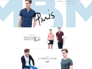 Menswear by Men Rebranded Homepage and Product Descriptions