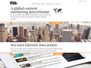 Mediaplanet's rebranded homepage