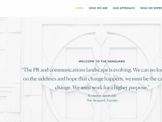 Website copywriting for The Vanguard PR