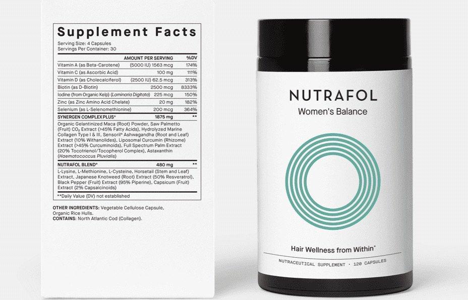 Nutrafol Women_s Balance Label and Bottle