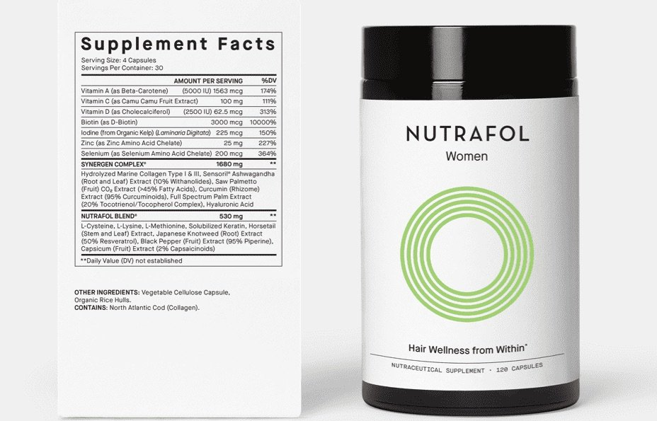 Nutrafol Women_s Label and Bottle