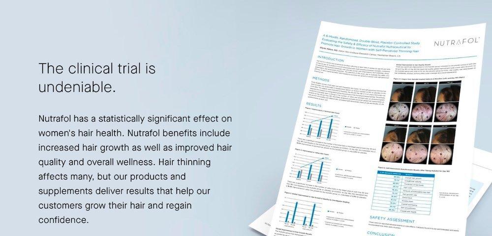 nutrafol clinical trial
