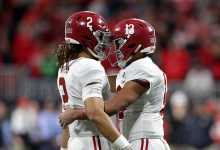 Jalen Hurts, Tua Tagovailoa break down Alabama's top four offensive potentialities in 2021 NFL Draft