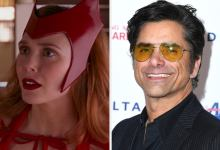 """John Stamos Shared A Adorable Characterize Of Elizabeth Olsen From In the encourage of The Scenes Of """"Elephantine Home"""" To Celebrate """"WandaVision"""""""
