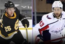Capitals' Tom Wilson riles Bruins with 'predatory' hit that hospitalizes Brandon Carlo