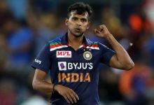 Doubts over Natarajan's availability for England T20Is