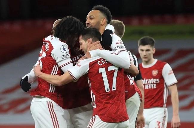 News24.com | Aubameyang sends Arsenal into Europa League last 16 as Rangers advance