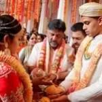 वैलेंटाइन डे पर स्पेशल मैरिज:कर्नाटक कांग्रेस के अध्यक्ष DK शिवकुमार की बेटी ने बीजेपी नेता SM कृष्णा के नाती से शादी की