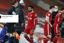 Mo Salah's agent posts cryptic tweet after Liverpool star gets subbed off vs Chelsea