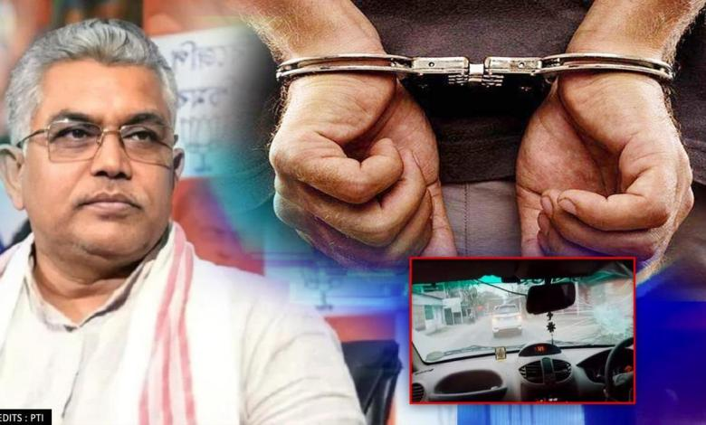 West Bengal police arrests 16 people over attack on BJP state chief Dilip Ghosh; neta hurt