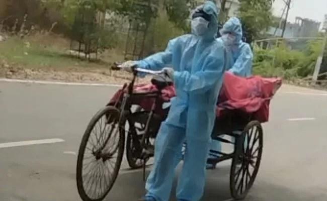 नालंदा में युवक का शव अंतिम संस्कार के लिए नगर निगम के कूड़े के ठेले से ले जाया गया