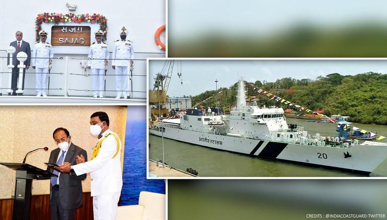 NSA Ajit Doval commissions Indian Coast Guard's offshore vessel 'Sajag'