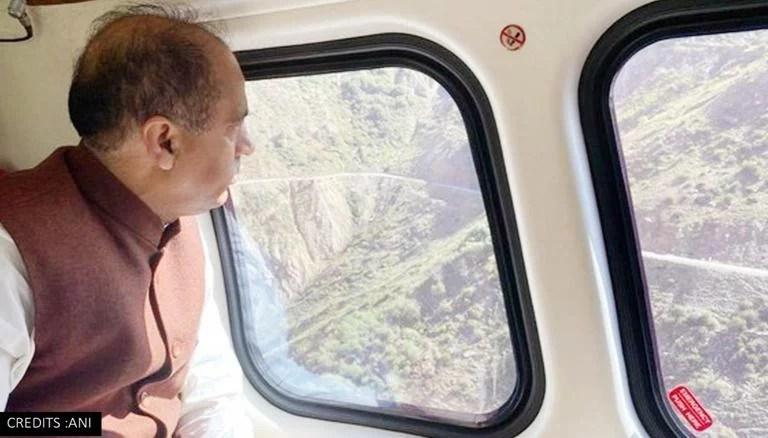 Himachal Pradesh floods: CM Jairam Thakur conducts aerial survey of the affected region