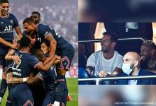 Lionel Messi Neymar Jr spotted together watching PSGs Ligue 1 pictures go viral