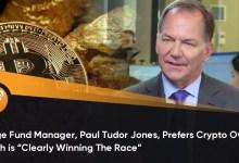 """हेज फंड मैनेजर, पॉल ट्यूडर जोन्स, क्रिप्टो को सोने से अधिक पसंद करते हैं जो """"स्पष्ट रूप से दौड़ जीतना"""" है"""
