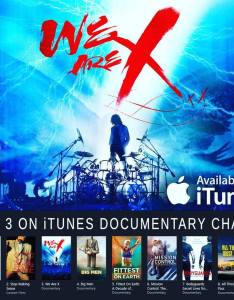 Jrock  japan we are itunes top also film breaks into documentary chart rh