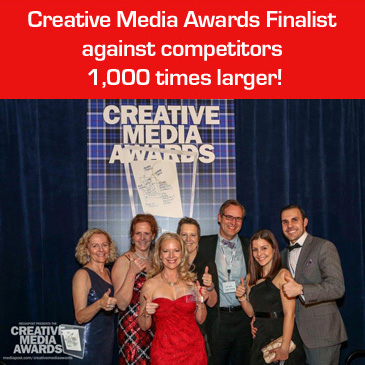 "JRocket Marketing is a Finalist at the 11th Annual Creative Media Awards for ""Einstein Campaign"" created for SYSPRO U.S."