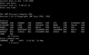 PC DOS Command Line