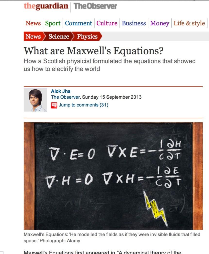 Observer Maxwell Equations