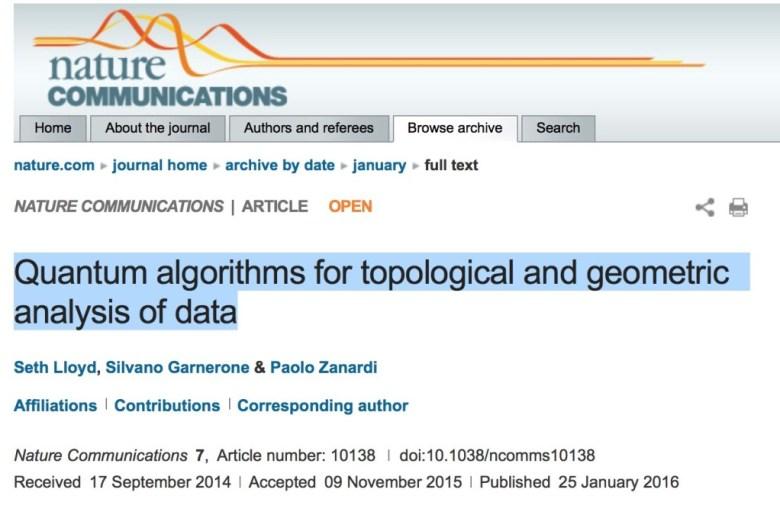 Quantum Data Algos