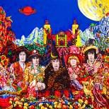 49 -Psicodelia en la Catedral (Los Rolling Stones estuvieron por aqui). 1.40x1.40m