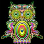 tumblr_static_psychedelic_owl_art