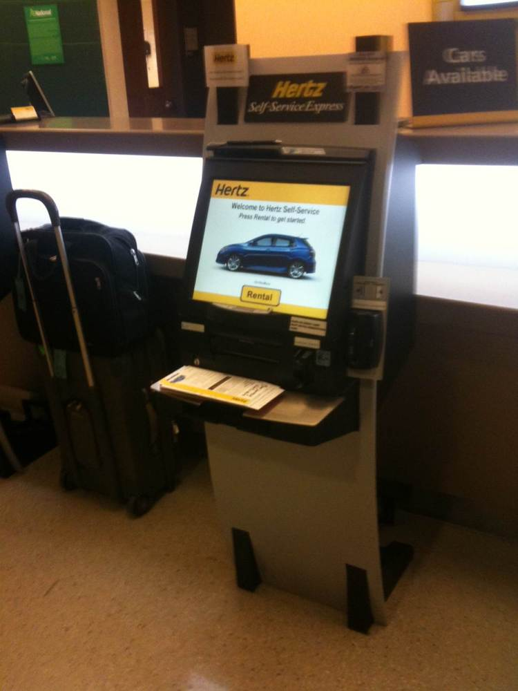 Skip the line at the rental car desk and use the self