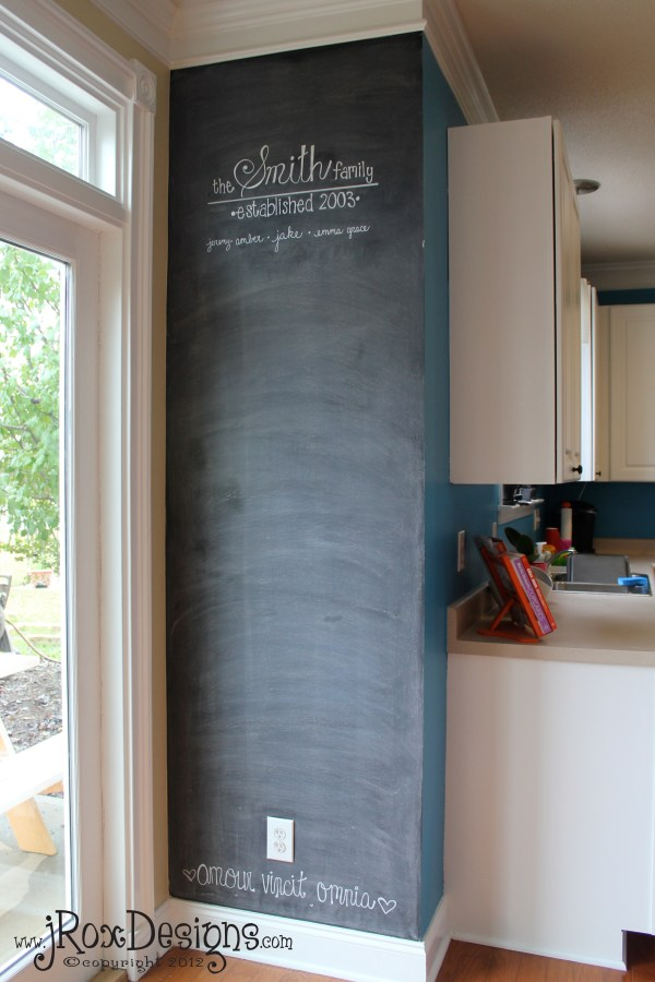 Chalkboard Paint Accent Wall