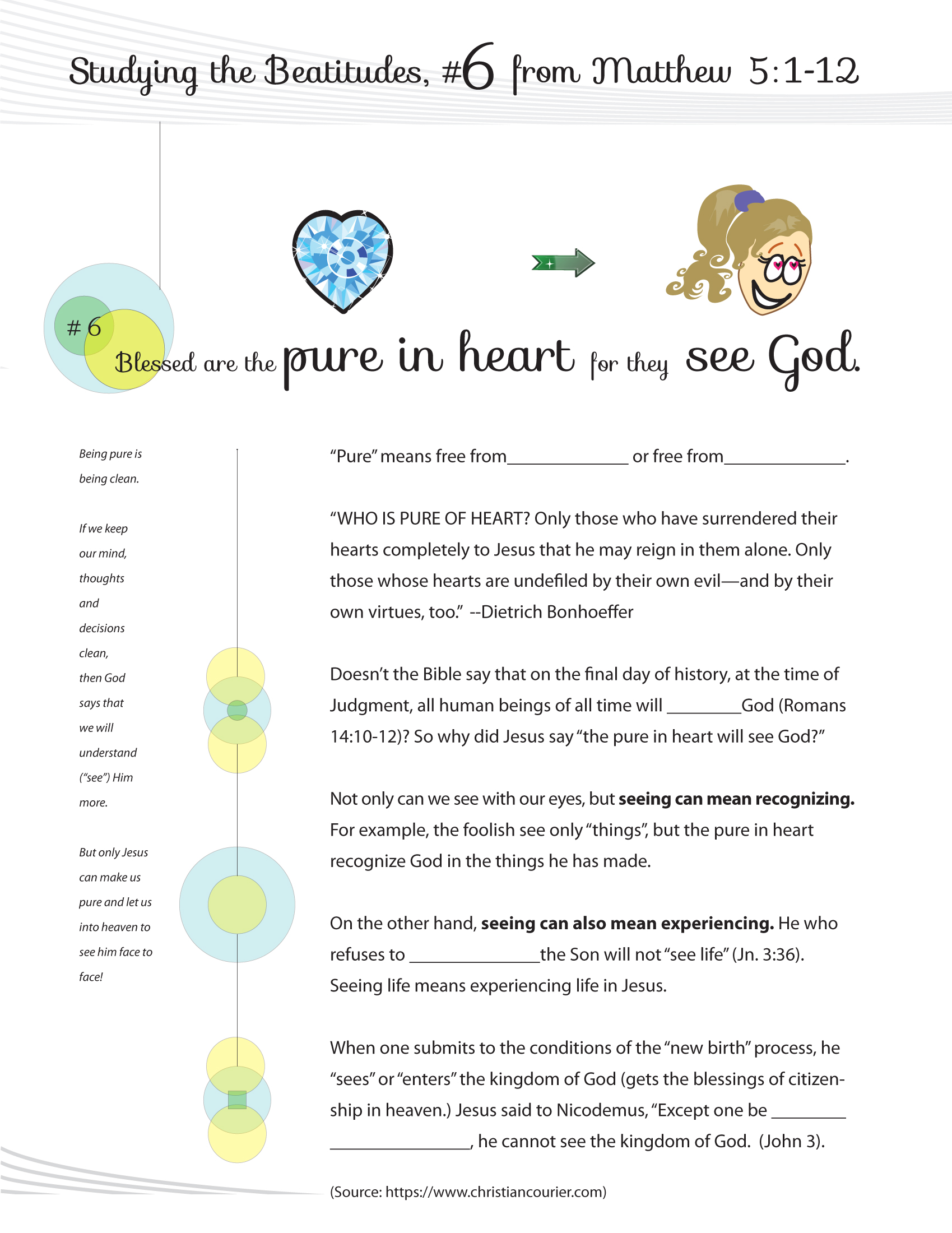 Students Worksheets For The Beatitudes