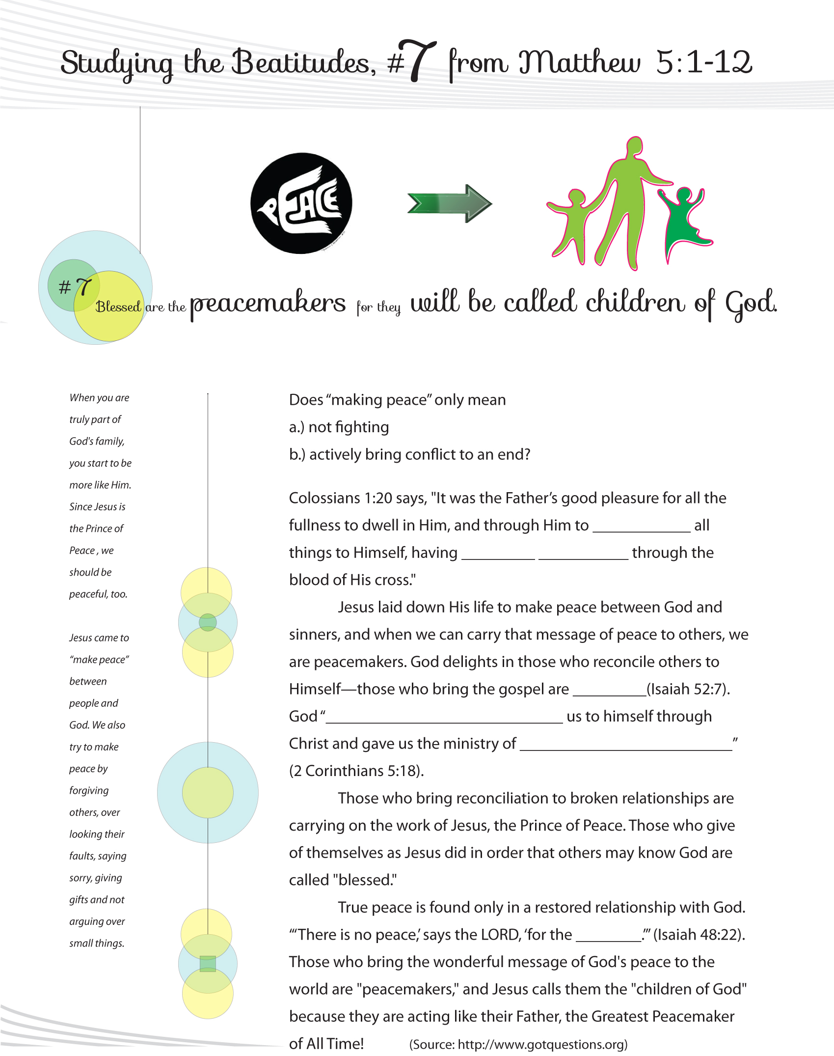 Beatitudes Graphics Worksheets Amp Curriculum For Sunday School And Ethics Classes An Engineer
