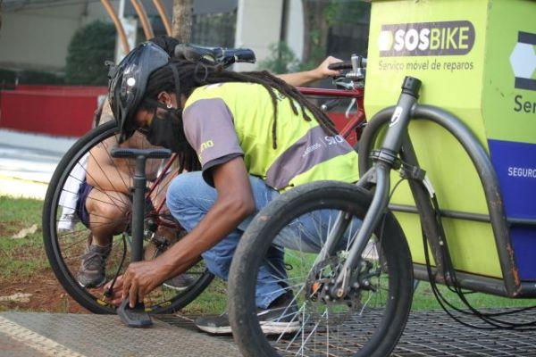 SOS Bike socorreu 11 mil ciclistas em SP: regulagem de câmbio e freios respondem por 45% dos atendimentos / Divulgação
