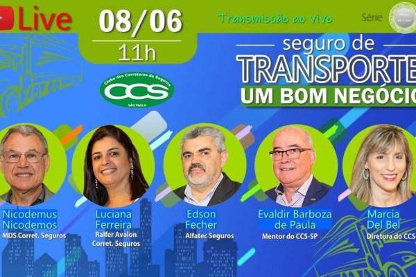 Live do CCS-SP estimula parcerias entre corretores no Seguro de Transporte / Divulgação